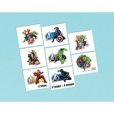 Avengers Party Supplies - Favours Marvel Powers Unite Tattoos