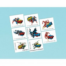 Justice League Party Supplies - Favours Heroes Unite Tattoos