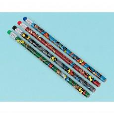 Justice League Party Supplies - Favours Heroes Unite Pencils