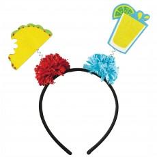 Mexican Fiesta Cinco Taco & Tequila Headbopper Head Accessorie