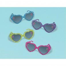 Trolls World Tour Glittered Heart Glasses Favours 4cm x 11cm Pack of 8
