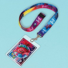 Trolls Party Supplies - Trolls World Tour ID Lanyards with Card Holder