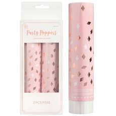 Blush Birthday Rose Gold & White Confetti Poppers Misc Accessories