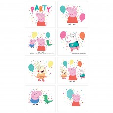 Peppa Pig Confetti Party Tattoos Favours
