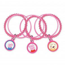 Peppa Pig Confetti Party Charm Bracelets Favours