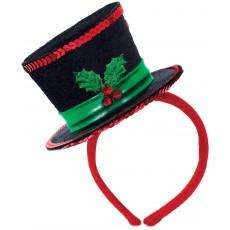 Christmas Diva Hat Headband Head Accessorie