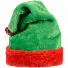 Christmas Party Supplies - Elf Plush Hat Adult Size