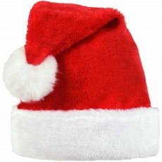 Christmas Party Supplies - Santa Plush Hat Adult Size