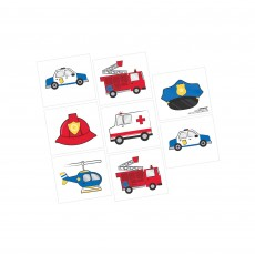 First Responders Party Supplies - Favours Tattoos 5cm x 4.44cm