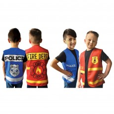 First Responders Party Supplies - Child Costumes Police & Fire Department Vests