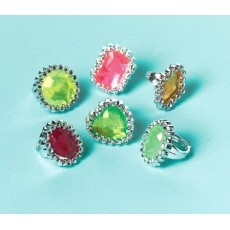 Happy Birthday Jewel Rings Favours Pack of 18