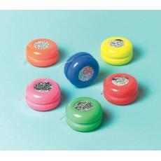 Happy Birthday Laser Yo-Yo's Favours Pack of 12