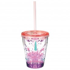 Magical Unicorn Party Supplies - Plastic Cup Enchanted Unicorn Tumbler