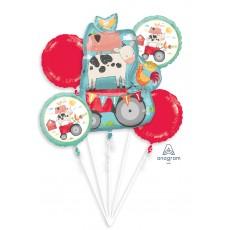 Barnyard Bouquet Foil Balloons Pack of 5