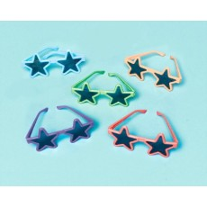 Multi Coloured Star Glasses Favours Pack of 8