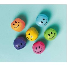 Multi Coloured Soft Smile Ball Favours 5cm Pack of 12