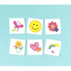 Happy Birthday Fashion Tattoo Favours Pack of 36