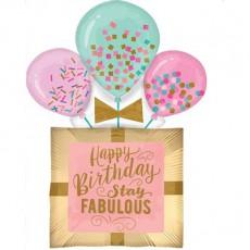 Gift SuperShape XL Happy Birthday Stay Fabulous Shaped Balloon 58cm x 81cm