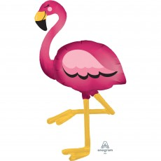 Hawaiian Luau Flamingo Airwalker Foil Balloon