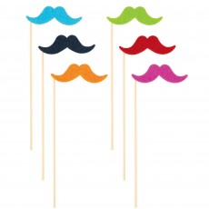 Mexican Fiesta Stick On Moustache Head Accessories