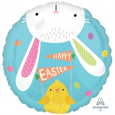Easter Standard HX Hello Bunny Foil Balloon
