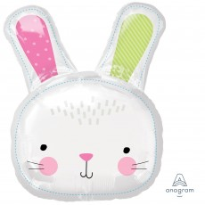 Easter SuperShape XL Hello Bunny Head Shaped Balloon