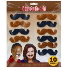 Cowboy & Western Brown & Black Western Moustaches Head Accessories