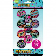Totally 80's Buttons Costume Accessories