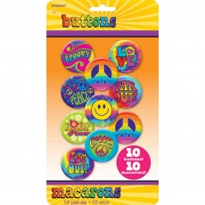 Feeling Groovy & 60's Button Costume Accessories