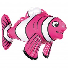 Hawaiian Luau Inflatable Striped Fish Shaped Balloon