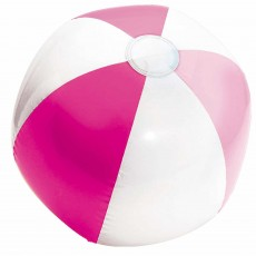 Hawaiian Luau Pink & White Inflatable Beach Ball Shaped Balloon