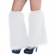 White Plush Leg Warmers Costume Accessories