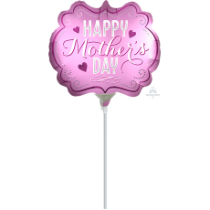 Marquee Mini Satin Infused Happy Mother's Day Shaped Balloon