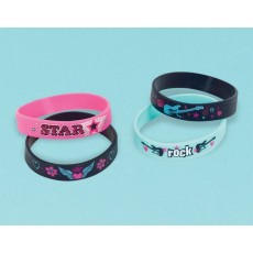 Rocker Princess Rubber Bracelet Favours