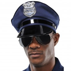 Careers Black Police Hat Costume Accessorie