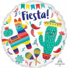 Round Mexican Fiesta Standard HX Foil Balloon 45cm