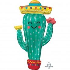 Mexican Fiesta SuperShape XL Cactus Shaped Balloon 60cm x 96cm