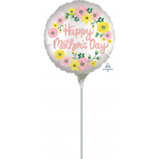 Mother's Day Satin Infused Spring Floral Foil Balloon