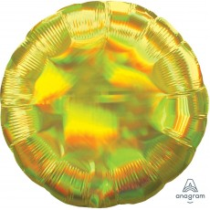 Yellow Iridescent Standard Holographic Foil Balloon