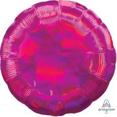 Magenta Party Decorations - Foil Balloon Std Iridescent Magenta