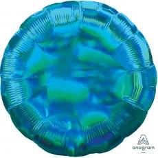 Blue Iridescent Cyan Standard Holographic Foil Balloon