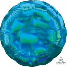 Iridescent Cyan Standard Holographic Foil Balloon