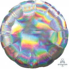 Silver Iridescent Standard Holographic Foil Balloon