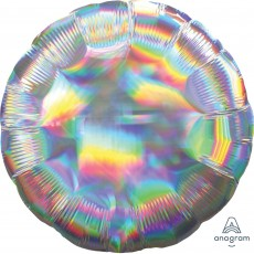 Iridescent Silver Standard Holographic Foil Balloon