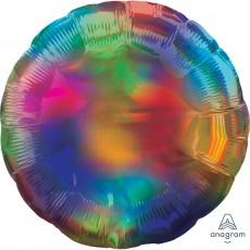 Rainbow Standard Holographic Iridescent Foil Balloon