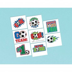 Soccer Tattoo Favours 5cm x 4cm 8 Tattoos