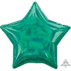 Green Iridescent Standard Holographic Shaped Balloon