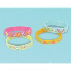 Hippie Chick Rubber Bracelet Favours