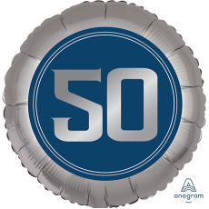 50th Birthday Happy Birthday Man Standard XL Foil Balloon