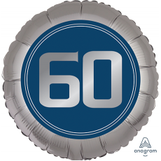 Round 60th Birthday Happy Birthday Man Standard XL Foil Balloon 45cm